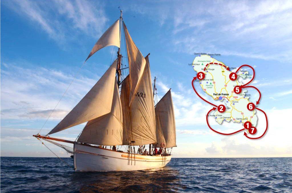 Tour de la Martinique à bord d'un magnifique voilier traditionnel